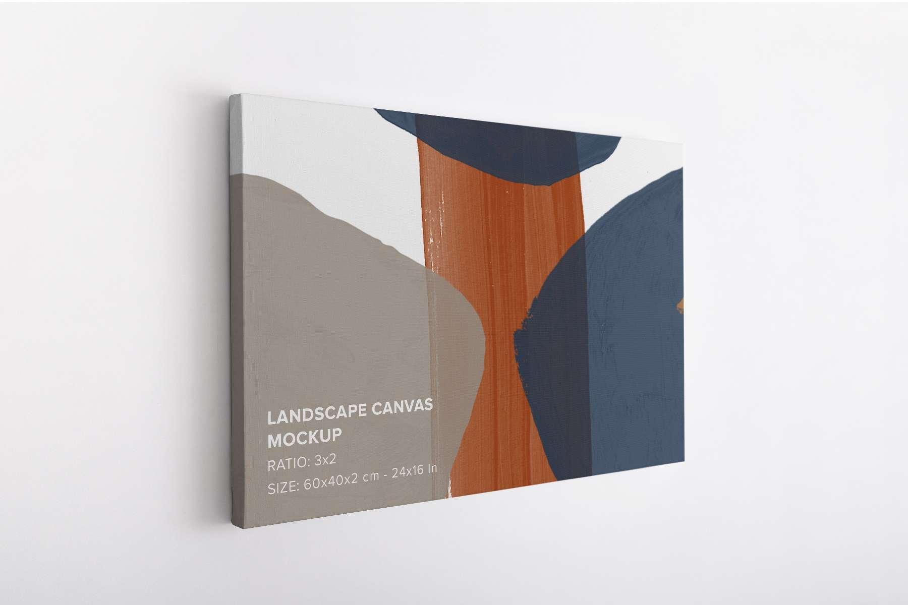 Thin Landscape Canvas Mockup