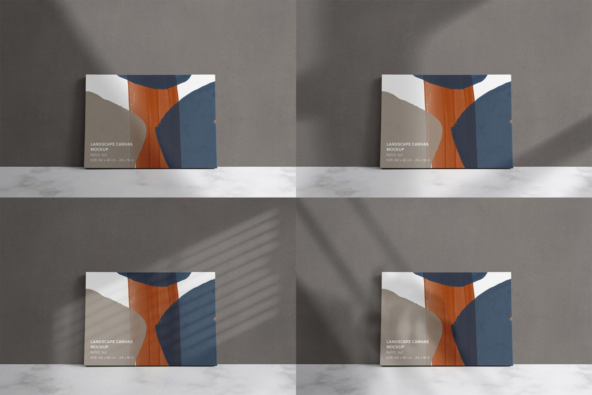 Front Facing Canvas Mockup Bundle