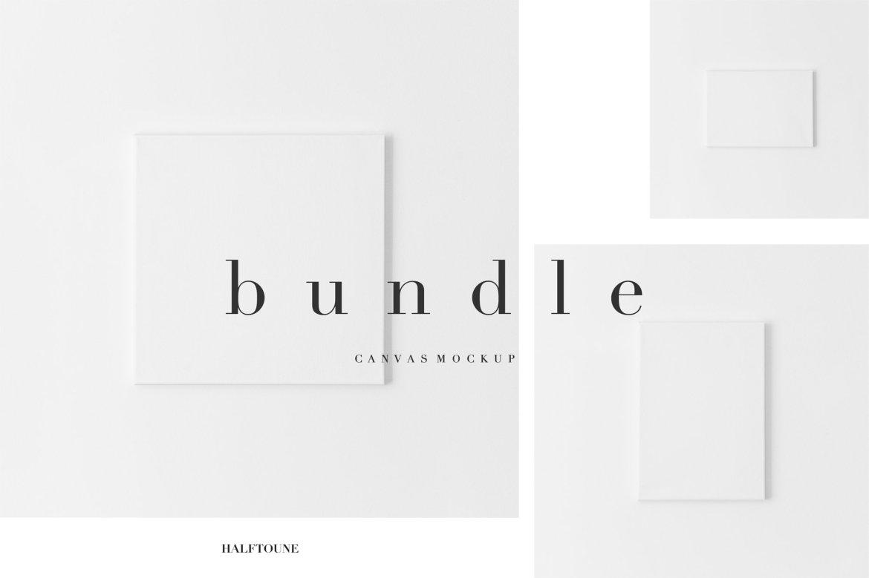 Clean & Minimal Canvas Mock Bundle