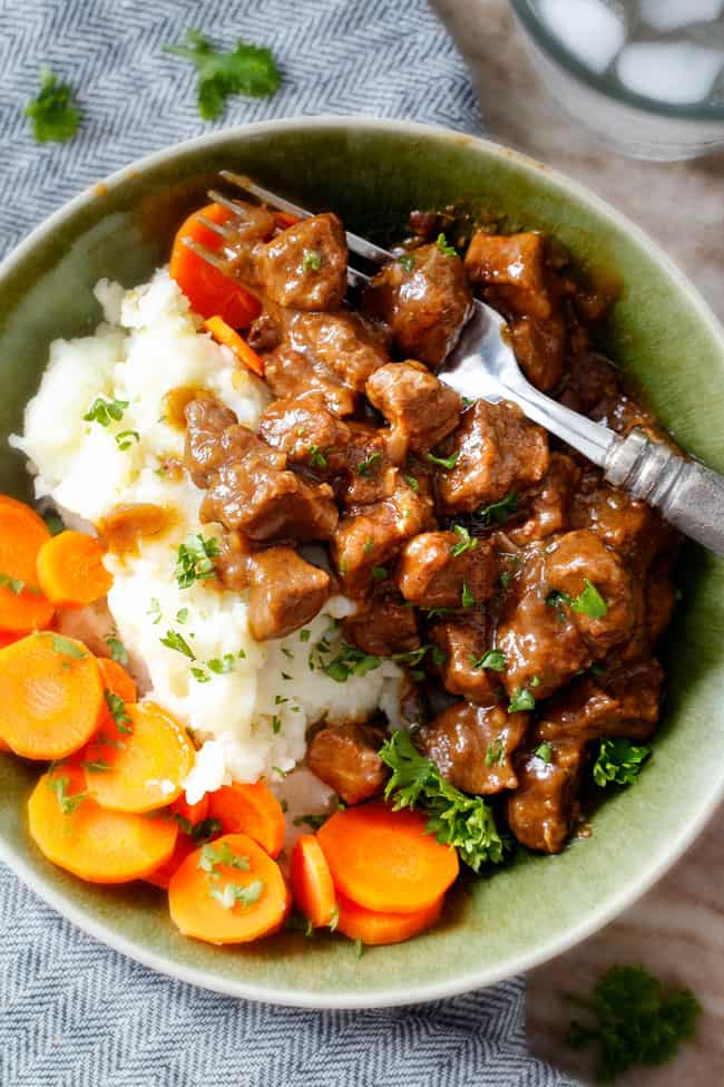 Best Ever Slow Cooker Beef Tips Amp Gravy No Cream Soup