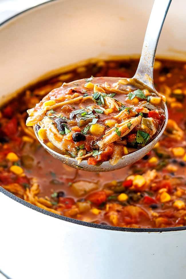 Chicken Tortilla Soup (EASY 30 Minutes! OR Slow Cooker)
