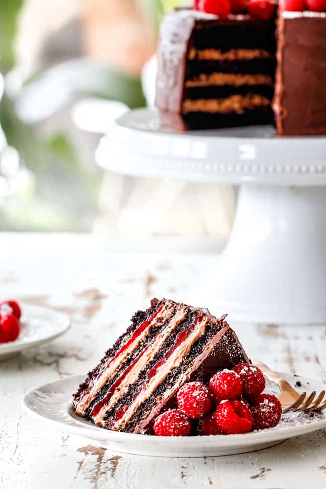 Chocolate Raspberry Cake With Raspberry Jam Chocolate