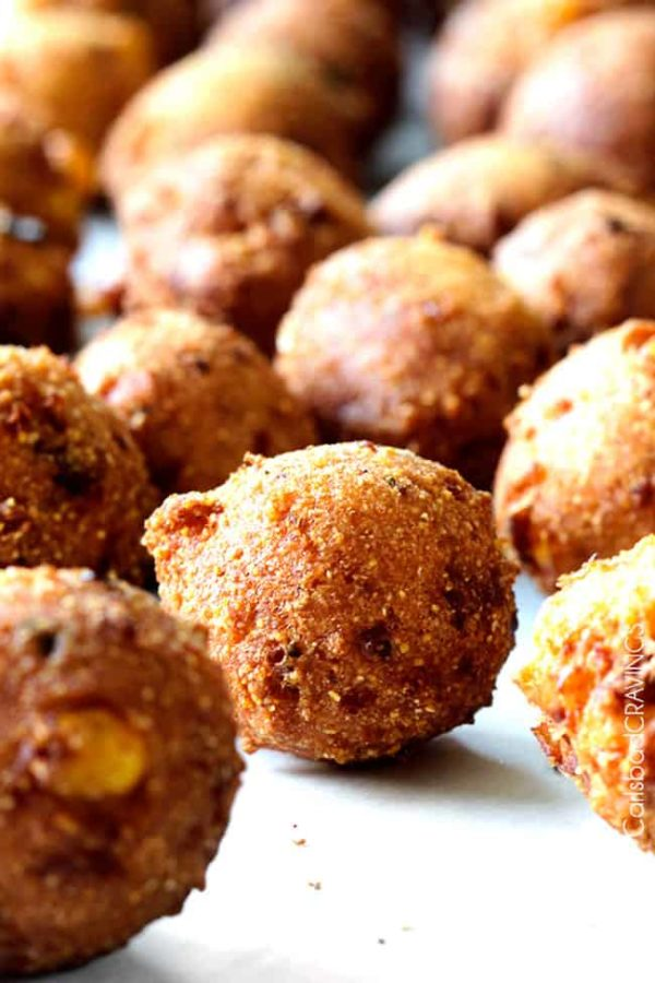 Hush Puppies with Bacon & Pepper Jack (how to freeze etc.)
