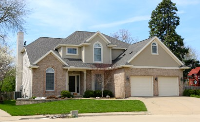 Landmark Pro Driftwood roof replacement in bloomington il