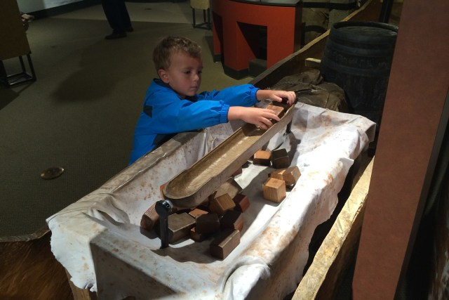Balance cargo on a river boat at the Lewis & Clark Interpretive Center at Cape Disappointment State Park Carltonaut's Travel Tips