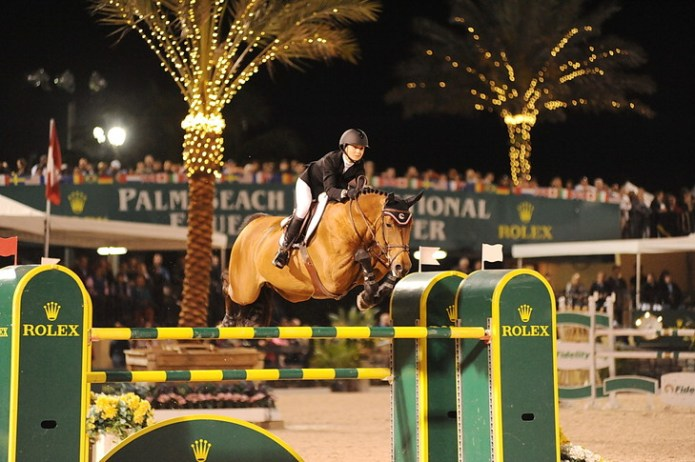Big prize money, glitz, glamour and high-profile riders such as Georgina Bloomberg have raised the profile of the Winter Equestrian Festival at the Palm Beach International Equestrian Center. (Photo by Nancy Jaffer)