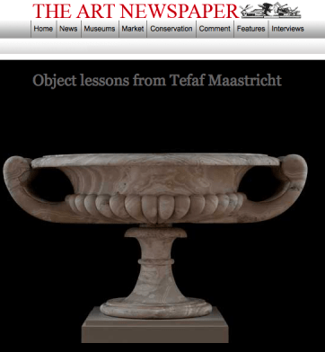 TheArtNewsPaper highlights Carlton Hobbs' exhibitit at the TEFAF Maastricht 2013