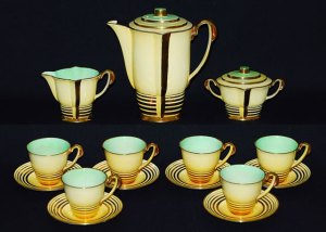 PARISIENNE coffee set in decoration pattern number 4077(1)