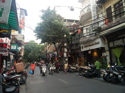 Our crazy little road in Hanoi