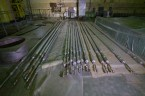 Upper stringers for fuel bundles in the Unit 2 reactor hall.