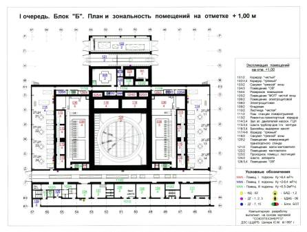 "+1m elevation in Block ""B"" (Unit 2 reactor building), Chernobyl Nuclear Power Plant."