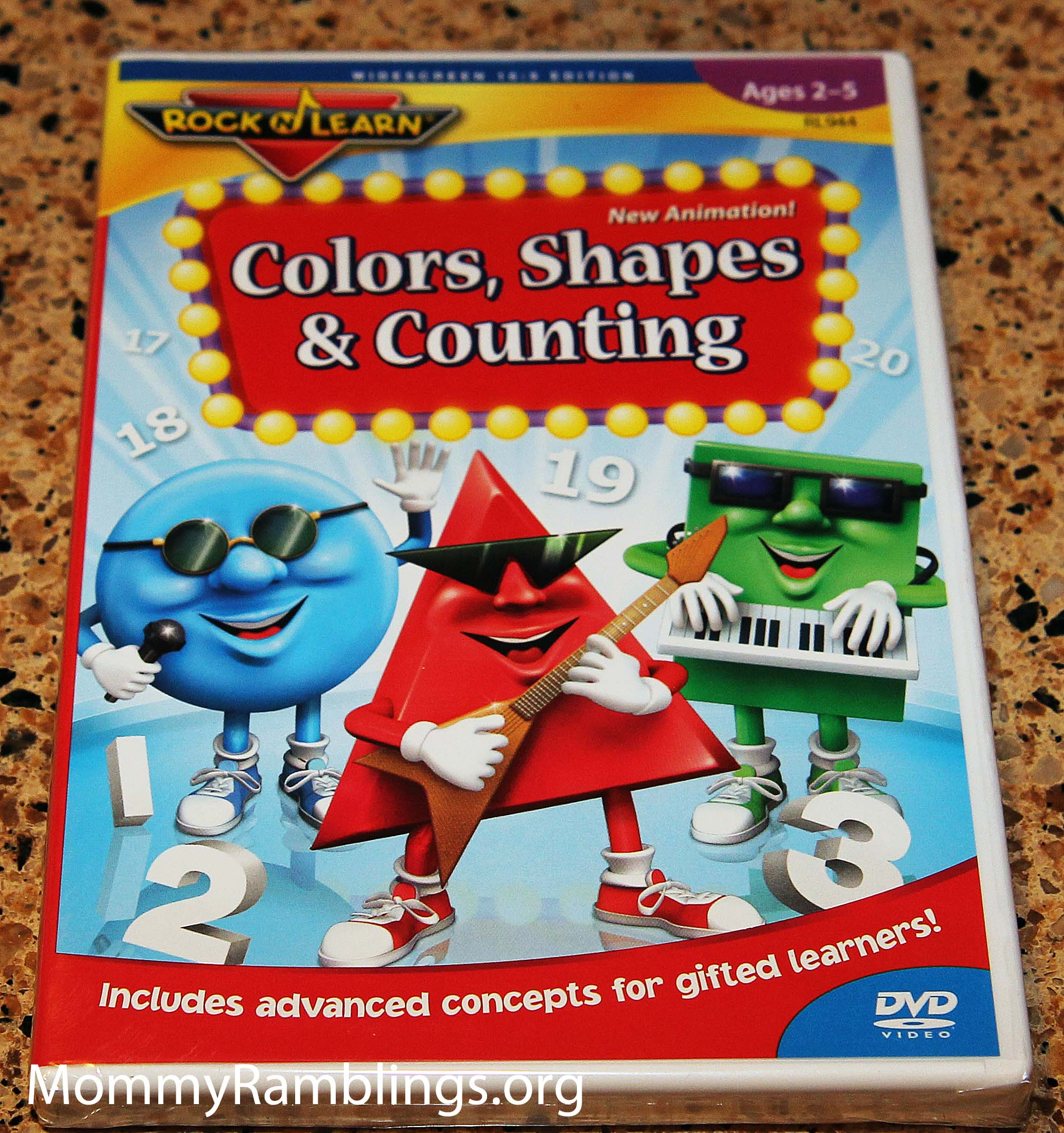 Rock N Learn Colors Shapes Amp Counting Dvd Review