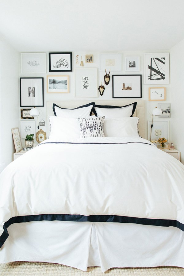 the-everygirl-alaina-danielle-home-tour-alaina-bedroom-bed-wall