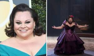 Keah Settle without makeup and Keah Settle with a beard