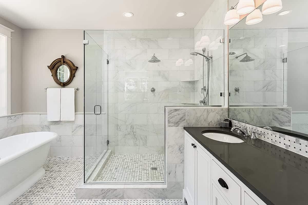 bathroom renovation high end tiling