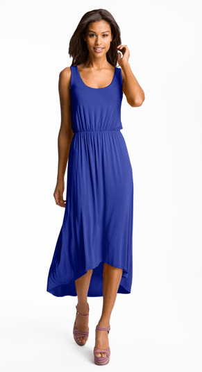 High/Low Hem Jersey Tank Dress by FELICITY & COCO