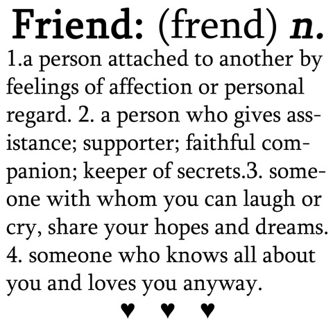 What's in a friend?