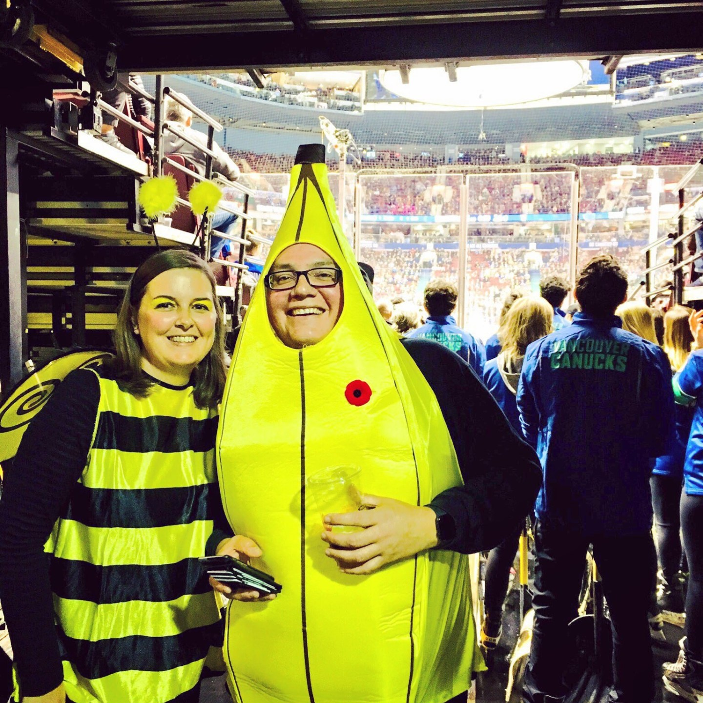 The banana and the bumble bee