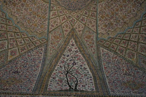 Floral details at Vakil Mosque, Shiraz