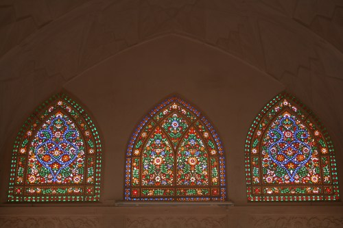 Stained glass windows at Khan-e Abbasian