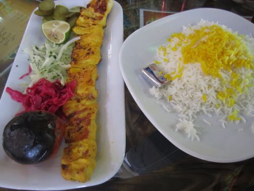 But when I did find food in Tehran it was delicious!