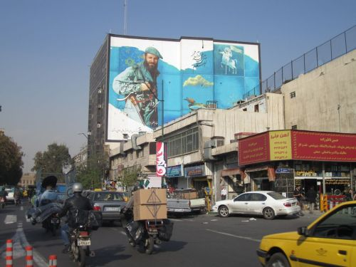 The streets of Tehran