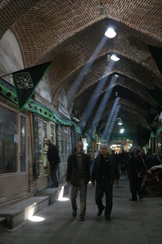 Magical light in Tabriz's Bazaar