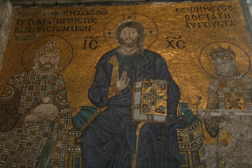 The famous mosaics of Aya Sophia