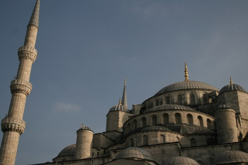 Minarets and domes of the Blue Mosque
