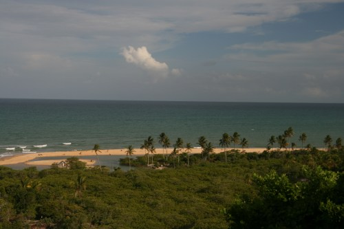 Overlooking the beach at Trancoso