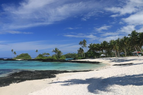 Travelling in Samoa as a Solo Female - you can have a beach like this all to yourself!!