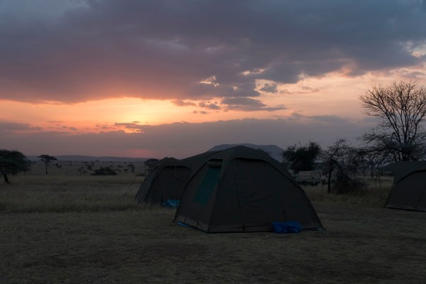 Sunrise over our campsite in the Serengeti