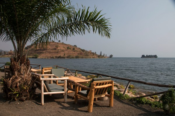 Lunch views on Lake Kivu