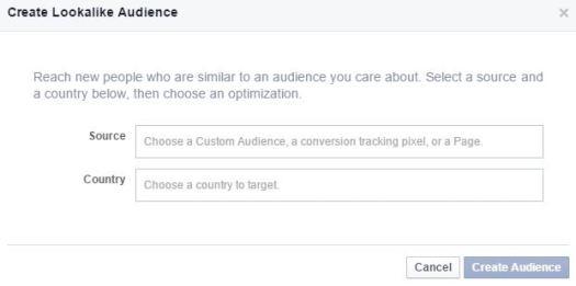 Fcebook lookalike audiences