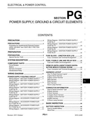 2012 Nissan Juke  Power Supply, Ground & Circuit Elements