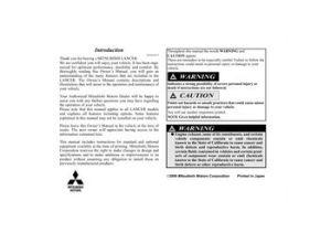 2010 Mitsubishi Lancer  Owner's Manual  PDF (670 Pages)