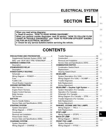 2000 nissan altima  electrical system section el  pdf