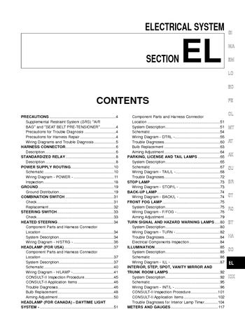 2002 nissan maxima  electrical system el  pdf manual