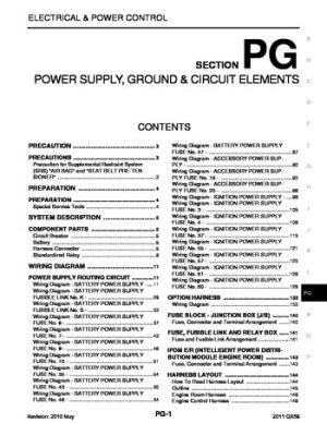 2011 Infiniti QX56  Power Supply, Ground & Circuit