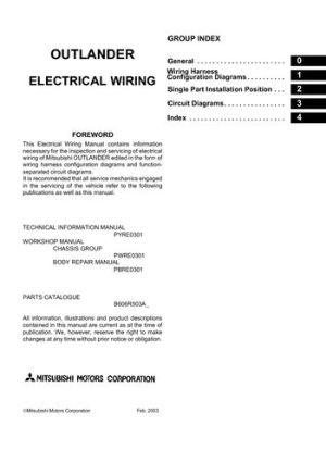 2006 Mitsubishi Outlander  Electrical Wiring Diagram