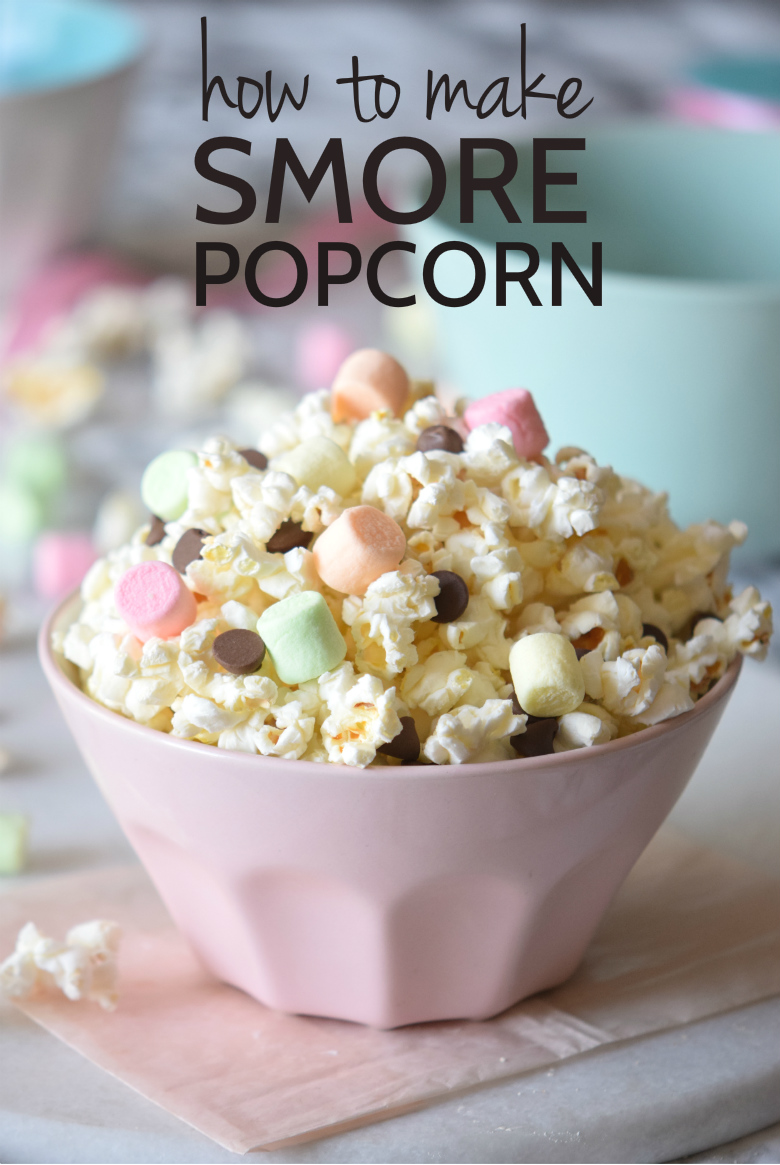 How to make the most delicious (and easiest!) Unicorn Smore Popcorn mix! | carmelapop.com