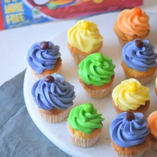 Skittles Cupcakes - Make a Rainbow Cupcake Spread