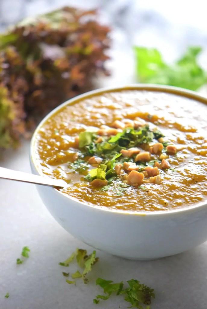 Spicy Vegan Pumpkin Soup