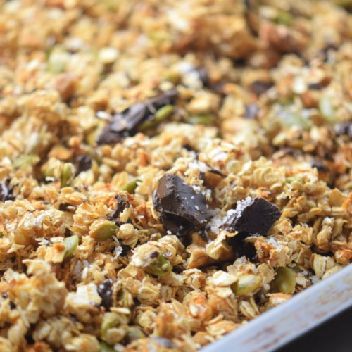 Sea Salt Chocolate Granola - Superfood Healthy Breakfast