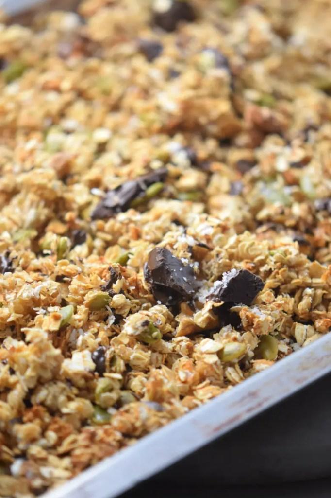 Sea Salt Chocolate Granola - Superfood Healthy Breakfast