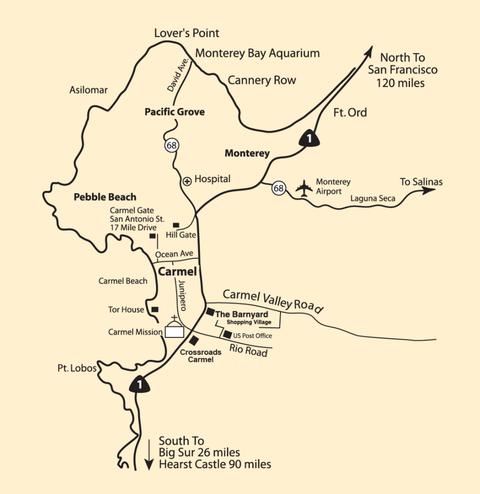 Monterey Peninsula Map