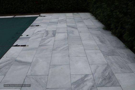 bianco carrara marble pavers exterior