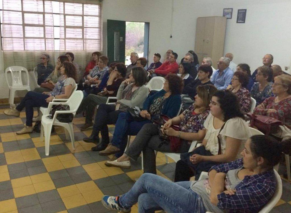 Cabildo Abierto en Conchillas por el BROU y sus servicios. (foto:  Paola Hernández Guerrero)