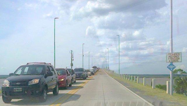 Comparativo de ingreso y egreso desde el puente.