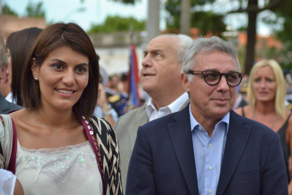 Zamora concurrió a la celebración con su esposa e hijos.